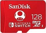 SanDisk microSDXC UHS-I Tarjeta para Nintendo Switch 128GB, Producto con Licencia de Nintendo