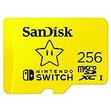 SanDisk microSDXC UHS-ITarjeta para Nintendo Switch 256B, Producto con Licencia de Nintendo